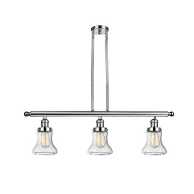 Aubrielle 3-Light Kitchen Island Pendant Finish: Polished Nickel