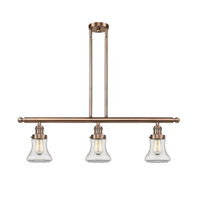 Nardone 3-Light Kitchen Island Pendant Color: Antique Copper