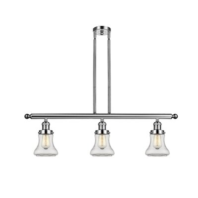 Nardone 3-Light Kitchen Island Pendant Color: Polished Nickel