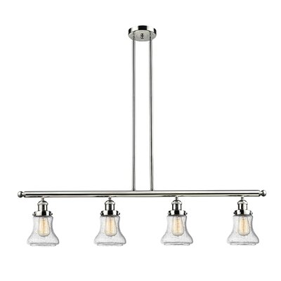 Aubrielle 4-Light Kitchen Island Pendant Finish: Polished Nickel