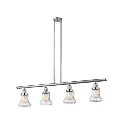 Nardone 4-Light Kitchen Island Pendant Color: Brushed Satin Nickel