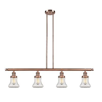 Aubrielle 4-Light Kitchen Island Pendant Finish: Antique Copper