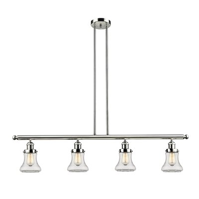 Nardone 4-Light Kitchen Island Pendant Color: Polished Nickel
