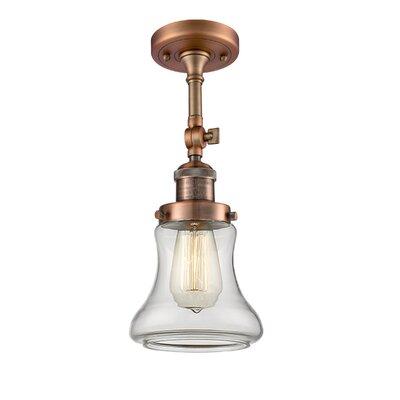 Nardone 1-Light Semi Flush Mount Fixture Color: Antique Copper