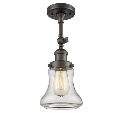 Nardone 1-Light Semi Flush Mount Fixture Color: Oil Rubbed Bronze