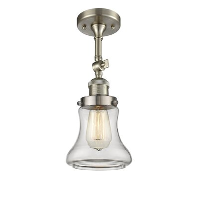 Aubrielle 1-Light Semi Flush Mount Fixture Finish: Brushed Satin Nickel