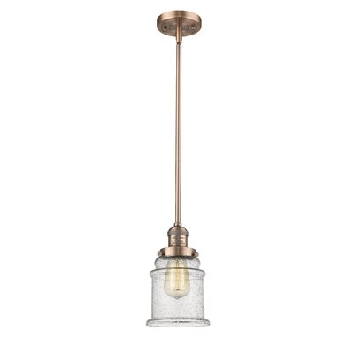 Greeley 1-Light Mini Pendant Finish: Antique Copper