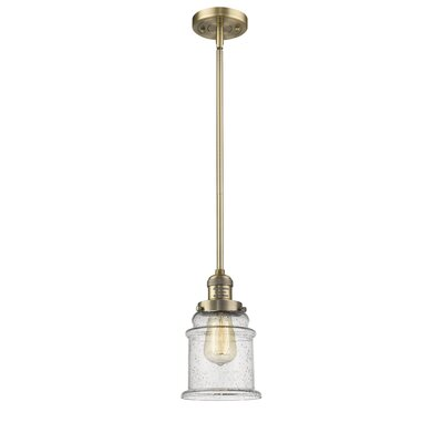 Donson 1-Light Mini Pendant Finish: Brushed Brass