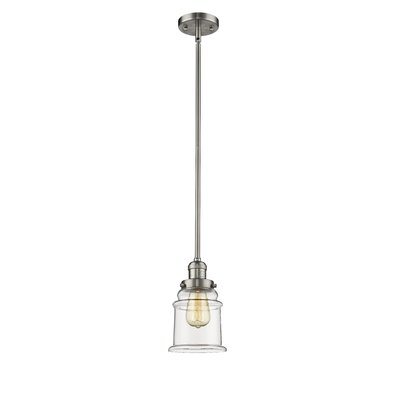 Greeley 1-Light Mini Pendant Finish: Brushed Satin Nickel