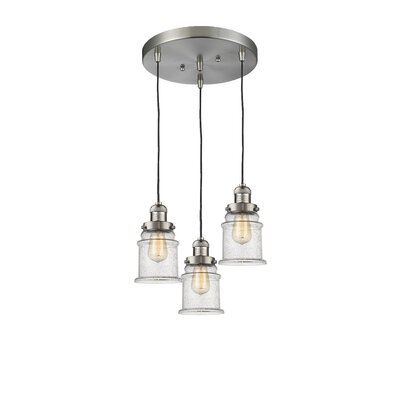 Donson 3-Light Cluster Pendant Finish: Brushed Satin Nickel