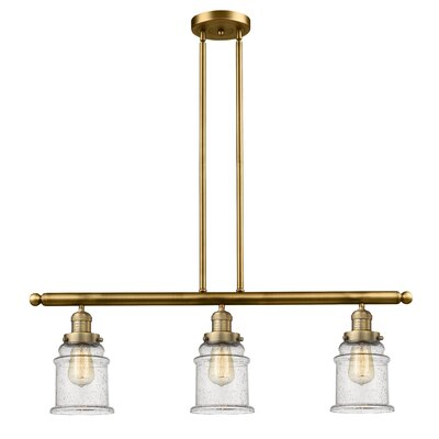 Donson 3-Light Kitchen Island Pendant Finish: Brushed Brass
