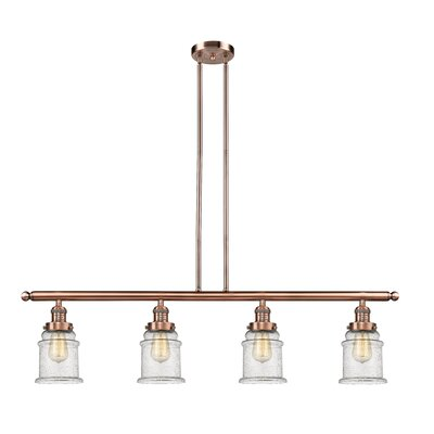 Greeley 4-Light Kitchen Island Pendant Finish: Antique Copper