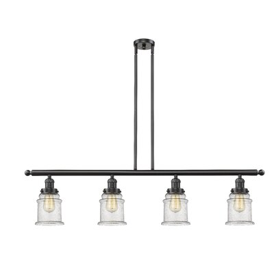 Donson 4-Light Kitchen Island Pendant Finish: Oiled Rubbed Bronze