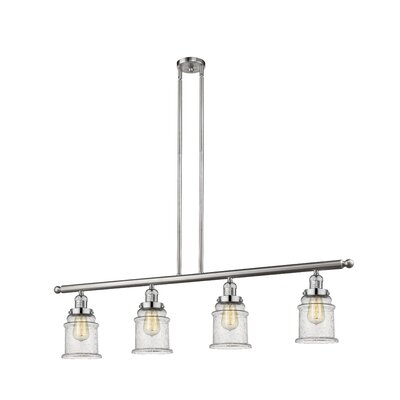 Donson 4-Light Kitchen Island Pendant Finish: Brushed Satin Nickel