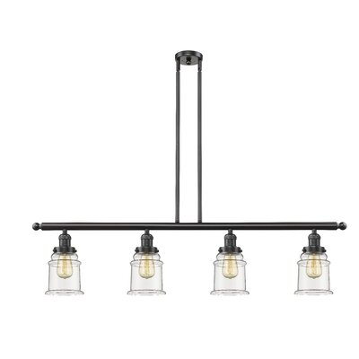 Greeley 4-Light Kitchen Island Pendant Finish: Oil Rubbed Bronze