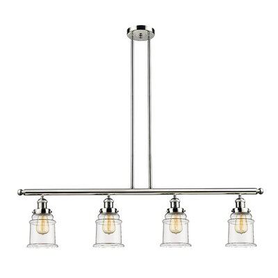 Greeley 4-Light Kitchen Island Pendant Finish: Polished Nickel