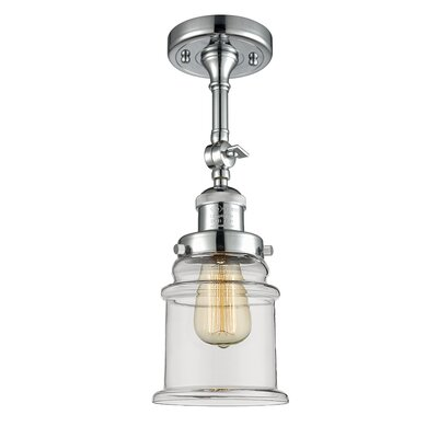 Greeley 1-Light Semi Flush Mount Fixture Finish: Polished Chrome