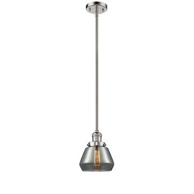 Dupree 1-Light Mini Pendant Finish: Polished Nickel, Shade Color: Smoked