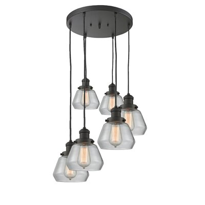 Dupree 6-Light Cluster Pendant Finish: Oil Rubbed Bronze