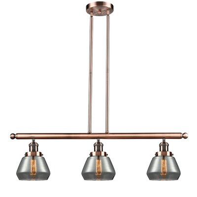 Dupree 3-Light Kitchen Island Pendant Finish: Antique Copper