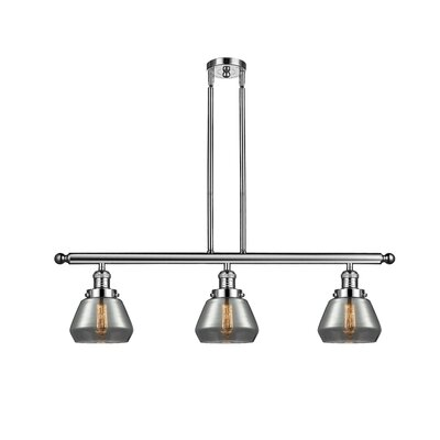 Dupree 3-Light Kitchen Island Pendant Finish: Polished Nickel
