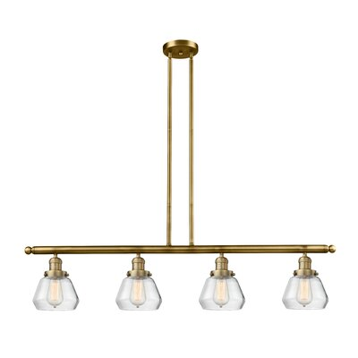 Dupree 4-Light Kitchen Island Pendant Finish: Brushed Brass