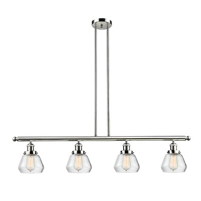 Dupree 4-Light Kitchen Island Pendant Finish: Polished Nickel