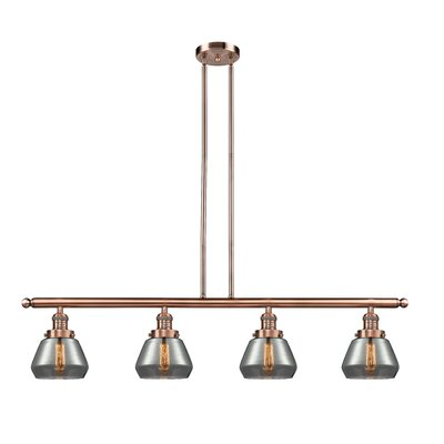 Dupree 4-Light Kitchen Island Pendant Finish: Antique Copper