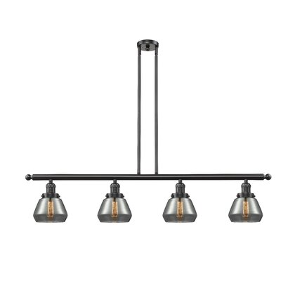 Dupree 4-Light Kitchen Island Pendant Finish: Oil Rubbed Bronze