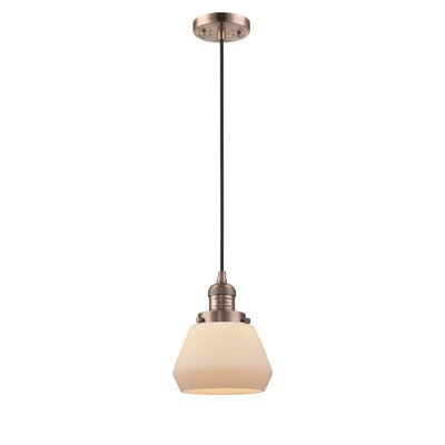 Dupree 1-Light Mini Pendant Finish: Antique Copper
