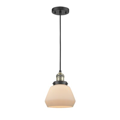 Dupree 1-Light Mini Pendant Finish: Black/Brushed Brass