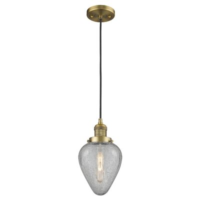 Bontrager 1-Light Mini Pendant Finish: Brushed Brass