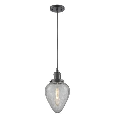 Bontrager 1-Light Mini Pendant Finish: Oil Rubbed Bronze