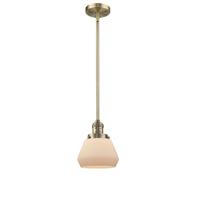 Dupree 1-Light Mini Pendant Finish: Brushed Brass