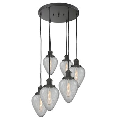 Bontrager 6-Light Cluster Pendant Finish: Oil Rubbed Bronze