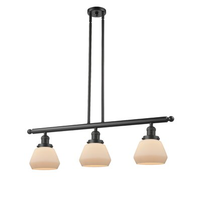 Dupree 3-Light Kitchen Island Pendant Finish: Oiled Rubbed Bronze, Shade Color: Matte White Cased
