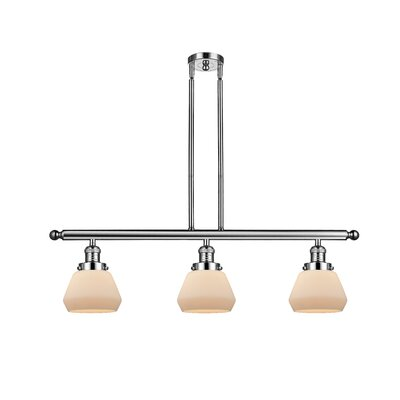 Dupree 3-Light Kitchen Island Pendant Finish: Polished Nickel, Shade Color: Matte White Cased