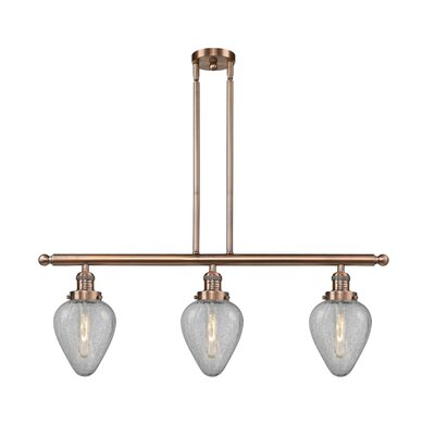 Bontrager 3-Light Kitchen Island Pendant Finish: Antique Copper