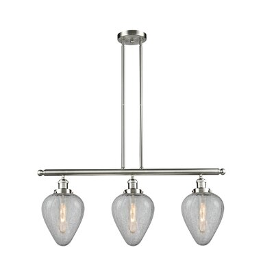Bontrager 3-Light Kitchen Island Pendant Finish: Brushed Satin Nickel