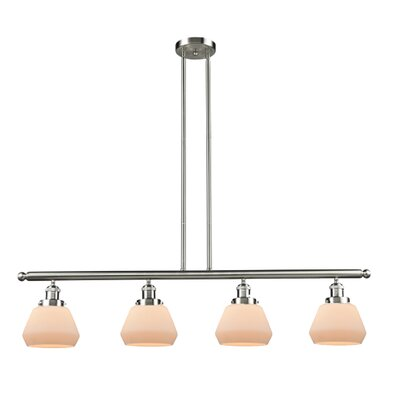 Dupree 4-Light Kitchen Island Pendant Finish: Brushed Satin Nickel
