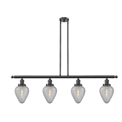 Bontrager 4-Light Kitchen Island Pendant Finish: Oil Rubbed Bronze