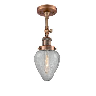 Bontrager 1-Light Semi Flush Mount Fixture Finish: Antique Copper