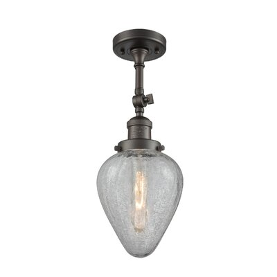 Bontrager 1-Light Semi Flush Mount Fixture Finish: Oil Rubbed Bronze