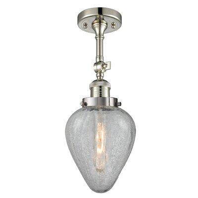 Bontrager 1-Light Semi Flush Mount Fixture Finish: Polished Nickel