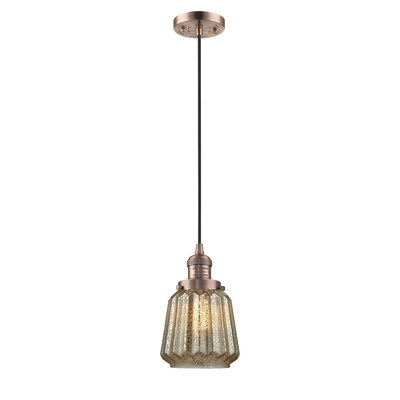 Vinson 1-Light Mini Pendant Finish: Antique Copper