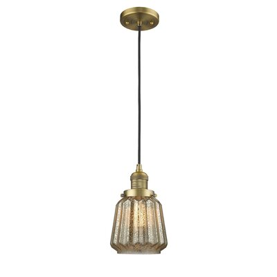 Vinson 1-Light Mini Pendant Finish: Brushed Brass