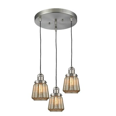 Vinson 3-Light Cluster Pendant Finish: Brushed Satin Nickel