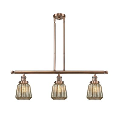 Vinson 3-Light Kitchen Island Pendant Finish: Antique Copper