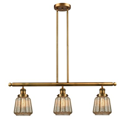 Vinson 3-Light Kitchen Island Pendant Finish: Brushed Brass