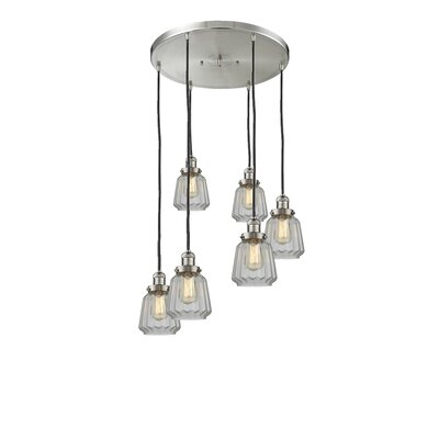 Vinson 6-Light Cluster Pendant Finish: Brushed Satin Nickel